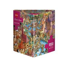 Puzzle 1000 piezas, Bunnytown, Ruyer (Triangular)