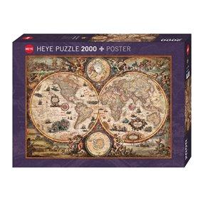 Puzzle 2000 piezas, Vintage world