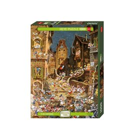 Puzzle 1000 piezas, By Noght, Romantic town