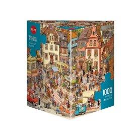 Puzzle 1000 piezas Market Place, Gobel & Knorr (Triangular)