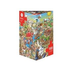 Puzzle 1000 piezas, History River, Prades (Triangular)