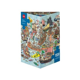 Puzzle 1500 piezas, Regatta, Adolfssondes (Triangular)