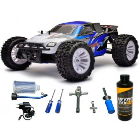 Pack Completo Coche Monster Truck rc Carnage 1/10 FTX 70Km/h (Gasolina) + Accesorios