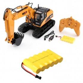 Pack excavadora rc Huina 1/14 y batería Ni-Cd 7,2V-400mAh