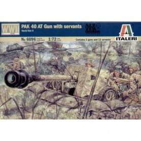 Kit Arma PAK 40 y 12 Soldados Alemanes Italeri 1/72