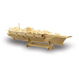Puzzle 3D Portaaviones de madera SIVA (165pz)