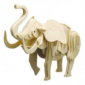 Puzzle 3D Elefante de madera Siva (53pz)