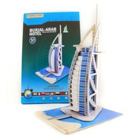 Puzzle 3D Torre de Dubai de madera (56pz)