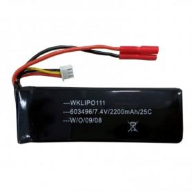 Batería LiPO 7,4V-2200mAh 25C (Banana)