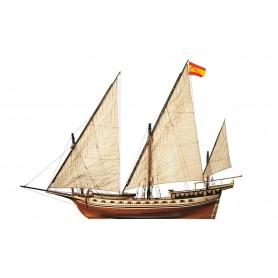 Barco de Madera Occre JABEQUE CAZADOR 1/60