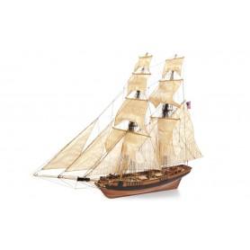 Barco de Madera Bergantín-Goleta Occre DOS AMIGOS 1/53