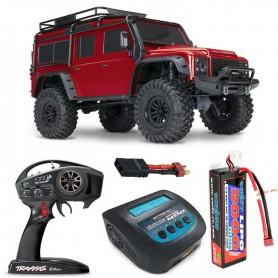 Pack Traxxas TRX-4 Land Rover Defender Rojo con 3 accesorios