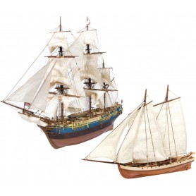 Pack Barco de madera y Bote Occre Bounty