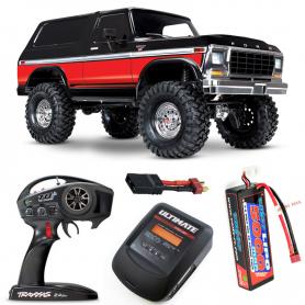 Pack Traxxas TRX-4 Ford Bronco Rojo con 3 accesorios