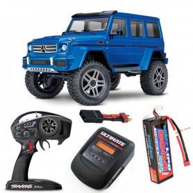 Pack Traxxas TRX-4 Mercedes Benz G-500 Azul con 3 accesorios
