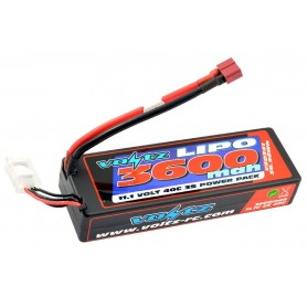 Batería LiPO Voltz 11,1V-3600mAh 40C Hardcase (T-Dean)