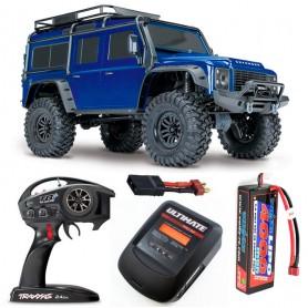 Pack Traxxas TRX-4 Land Rover Defender Azul con 3 accesorios