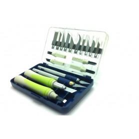 Kit de 22 herramientas de corte: cútter y cuchillas