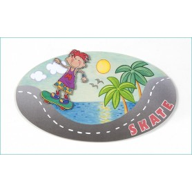 Cartel Oval Puerta Infantil