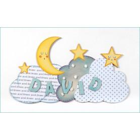 Cartel Luna Puerta Infantil