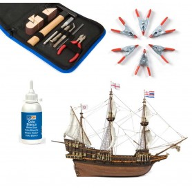 Pack Barco de madera Occre GOLDEN HIND 1/85