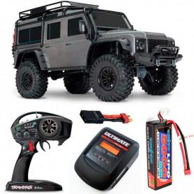 Pack Traxxas TRX-4 Land Rover Defender Gris con 3 accesorios