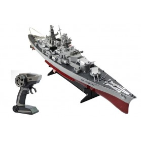 Barco RC Destructor Alemán Bismarck 1/360 10Km/h (II Guerra Mundial)