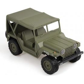 Coche Militar RC Jeep con capota 1/10 15Km/h (Brushed)