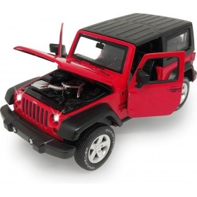 Coche en miniatura Jamara Jeep Wrangler 1/32 (rojo)