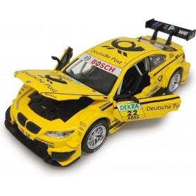 Coche en miniatura Jamara BMW M3 DTM 1/32 (amarillo)