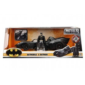 Coche en miniatura Batmóvil y Batman 1/24 (1989)