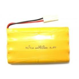 Batería Ni-CD 9,6V-700mAh (Mini-Tamiya)