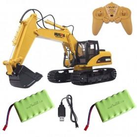Pack excavadora RC Huina 1/14 (Pala metálica) y batería Ni-Cd 7,2V-400mAh