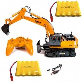Pack Excavadora rc Huina 1/16 y Batería Ni-MH 6V-400mAh