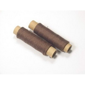 Kit 2 bobinas de hilo de algodón marrón Occre para modelismo naval