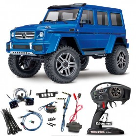 Coche RC Crawler Traxxas TRX-4 Mercedes Benz G-500 1/10 con luces (Brushed)
