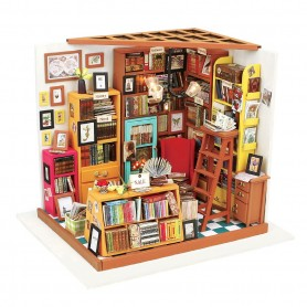 Maqueta madera DIY House Sam's Library Robotime 1/24