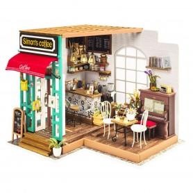 Maqueta madera DIY Simon's Coffee Shop Robotime 1/24