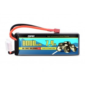 Batería LiPO 7,4V-8000mAh 50C Hardcase SC (T-Dean)
