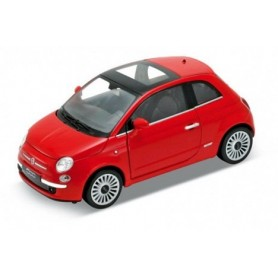 Coche FIAT 500 2007 Welly 1/24