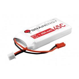 Batería LiPO Brainenergy 7,4V-1000mAh 45C (BEC)