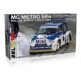 Maqueta BELKITS Coche MG Metro 6R4 Rally Montecarlo 1986 1/24