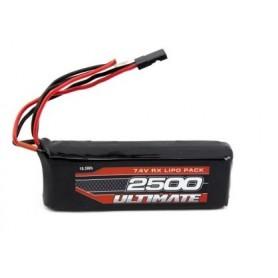 Batería Lipo Receptor Ultimate Racing 7,4V-2500mAh (JR)