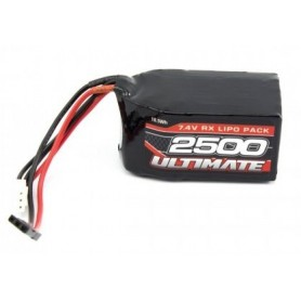 Batería Lipo Receptor Ultimate Racing 7,4V-2500mAh (JR)