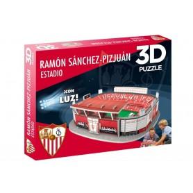 Puzzle 3D Estadio Ramón Sánchez-Pizjuán Sevilla FC (con luz)