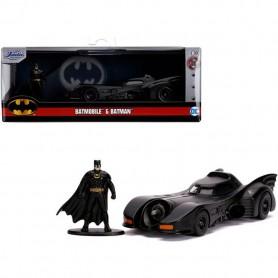 Coche en miniatura Batmóvil 1989 con figura Batman 1/32