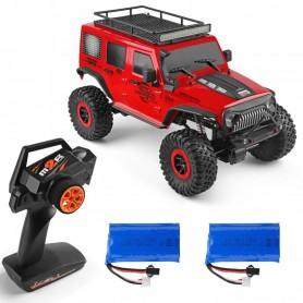 Pack Crawler RC Jeep WRANGLER 1/10 15Km/h con Batería extra