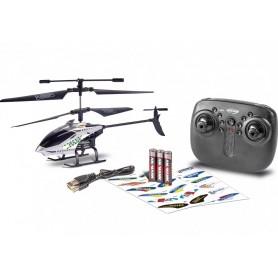 Helicóptero RC CARSON Police TYRANN 22,5cm (Brushed)