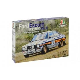 Maqueta Coche Italeri FORD Escort RS 1800 Mk. II Lombard RAC Rally 1/24