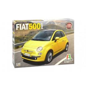 Maqueta Coche Italeri FIAT 500 (2007) 1/24